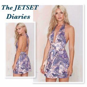 The Jetset Diaries Fortune Teller Halter Dress